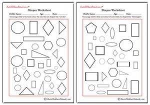 Find and Colour the Shape